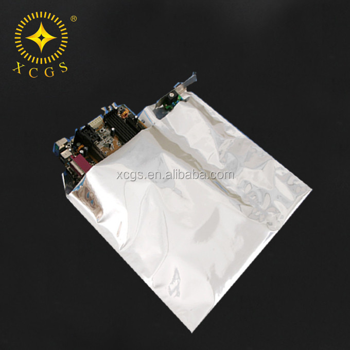 Antistatic aluminium foil bag with logo printing ,designing available
