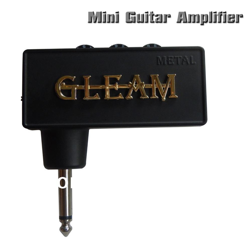 1x mini guitar amplifier plug in miniature amp musical instrument headphone jack aux jack metal. Black Bedroom Furniture Sets. Home Design Ideas