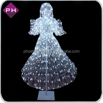 48 christmas lighted scroll metal angel sculpture yard decoration outdoor - Christmas Angel Yard Decorations