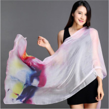 Summer new mulbery silk scarves digital print long silk beach scarf manufacturers wholesale thin sun - wrap