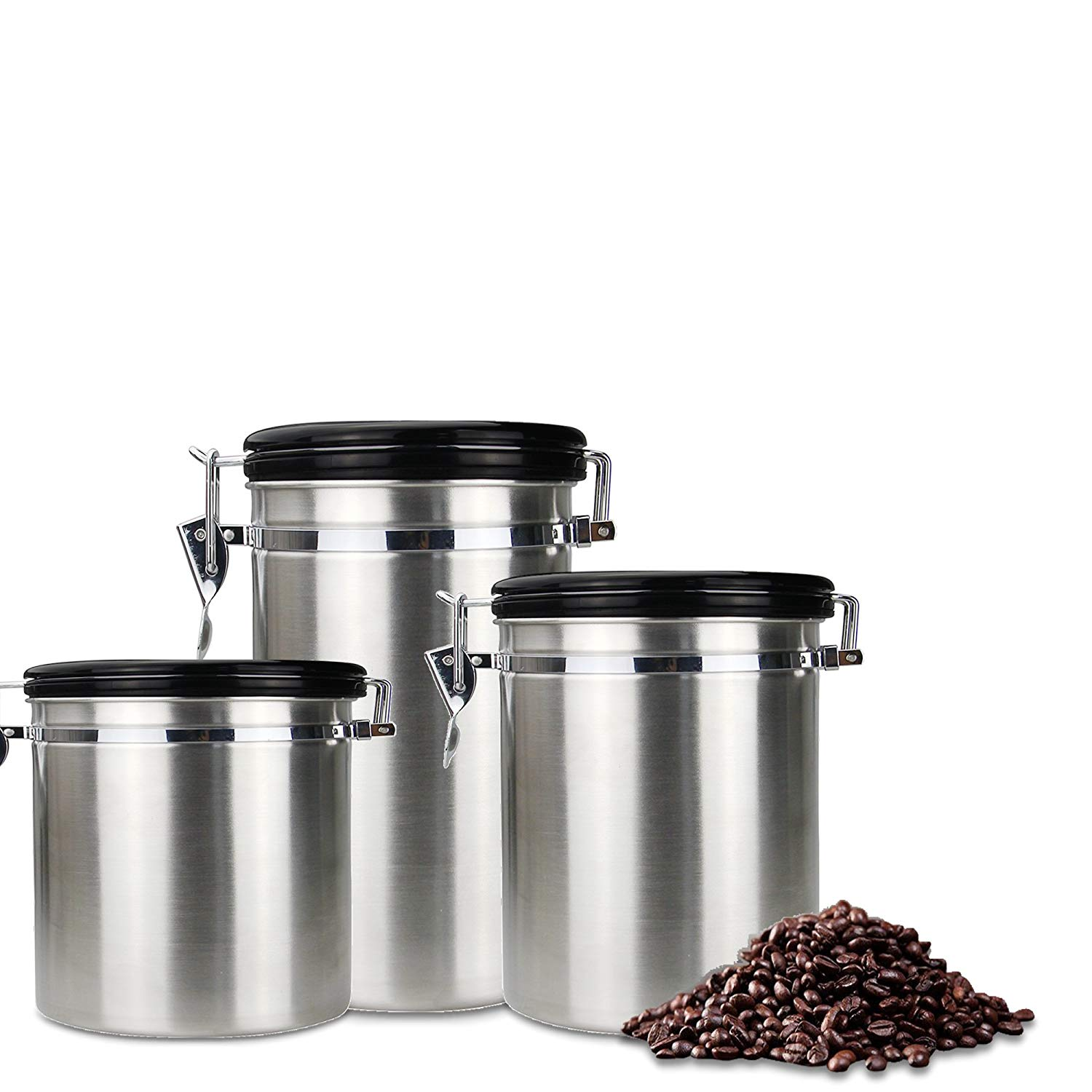 Get Quotations Coffee Canister Dili Stainless Steel And Food Storage Container Air With