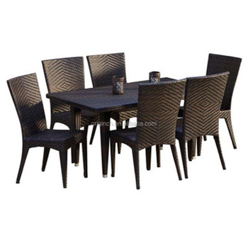 2016 New Backyard Rattan Garden Table Sets And 6 Effezeta Dining Chairs