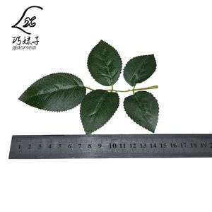 High quality decoration artificial rose leaves