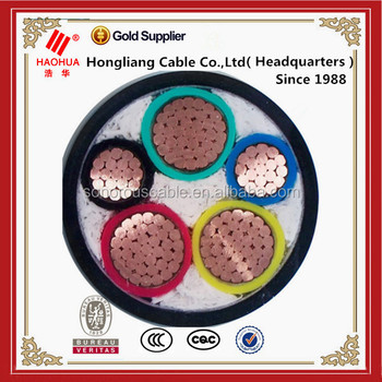 China Suppiler Types Of Three Phase 5 Core Electrical Power Cable