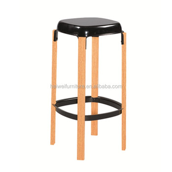 Wood Grain Bar Stool Knock Down Furniture