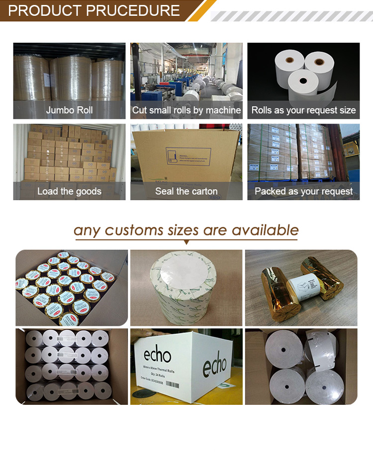 High quality wholesale 80x80mm cashire thermal paper rolls