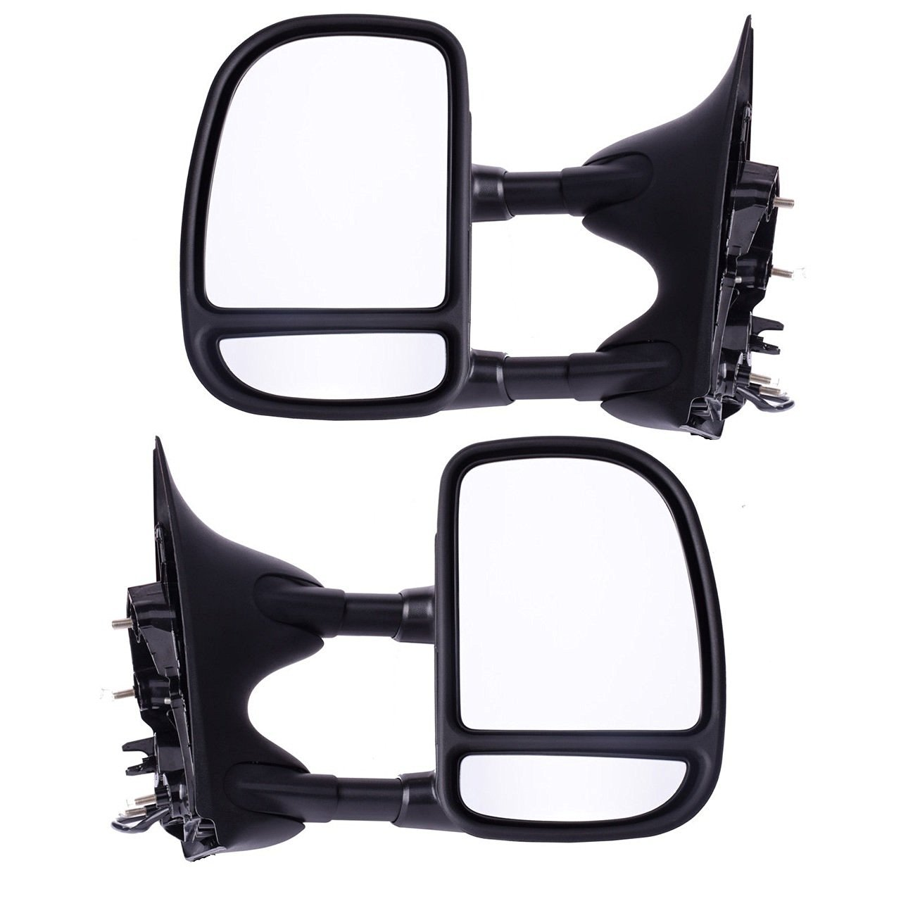 Nova 99-07 Ford Pickup Truck Super Duty F250 F350 Power Heated Mirrors Tow Mirrors Pair No Light