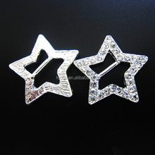custom sash straps rhinestone crystal studded star rhinestone buckles for wedding