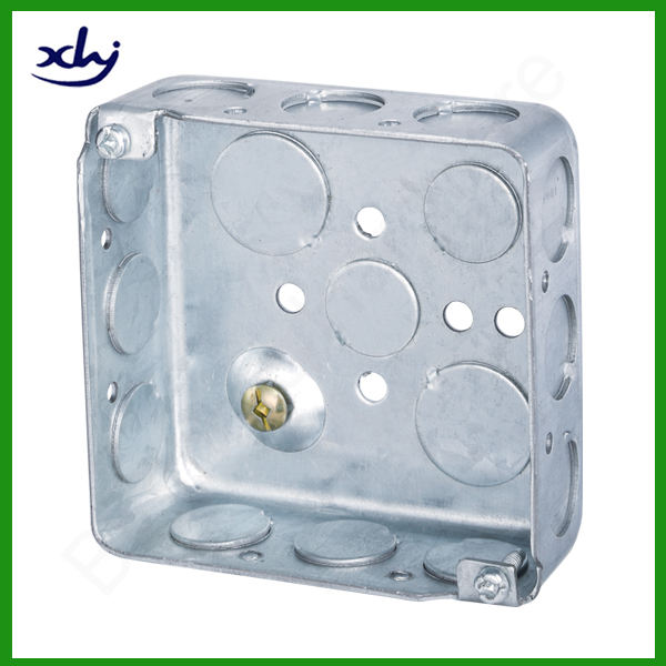 South American market galvanized steel wall mount box square electrical wire box