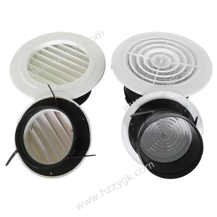 Round Hvac Air Conditioning Diffuser Plastic Ceiling Duct