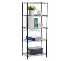 12F Light Duty 5 Tiers Adjustable Decorative Wrought Iron Shelves , NSF Approval