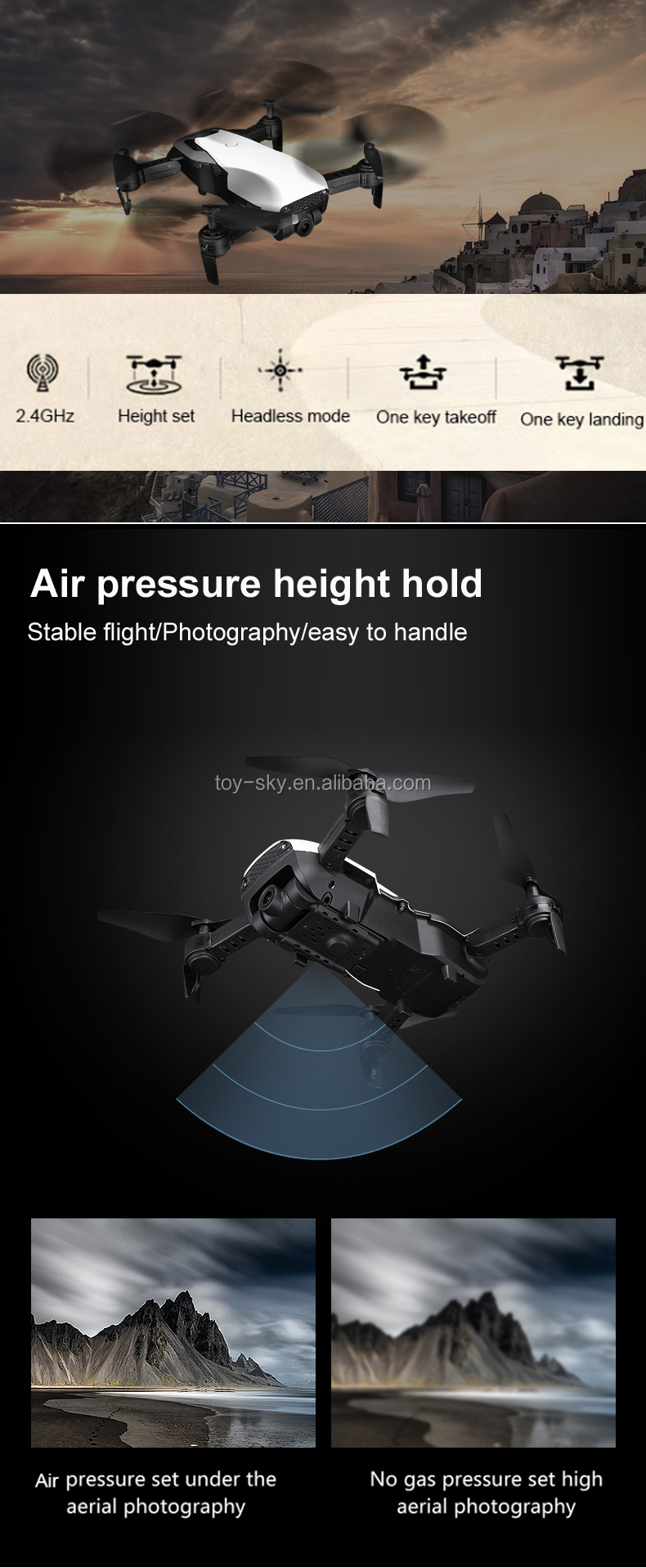 Upgrade Portable Folding Optical flow RC Hover camera Drone with WIFI Live Photo APP Helicopter Altitude Hold Quadcopter 1080P