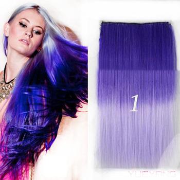 Lange Gerade Ombre Farbe Bunte Dekorative Haare Scheibe Verlangerung Buy Bunte Haarverlangerung Perucke Dekorative Haare Scheibe