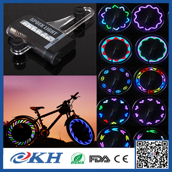 2017 fashion waterproof led bicycle wheel light for bike,changing led decorative bike wheel spoke light for coolest bicycle