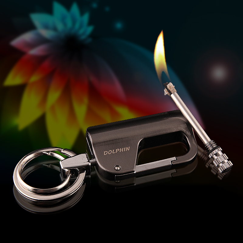 Yan zhen HY-650 personalized creative metal key holder easy to carry waterproof million times match oil lighter