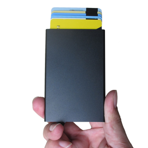 Hot selling men's silm rfid credit card holder
