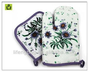 lifeng apron set/oven mitts and pot holder