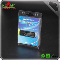 eletronic clear usb clam shell blister packaging