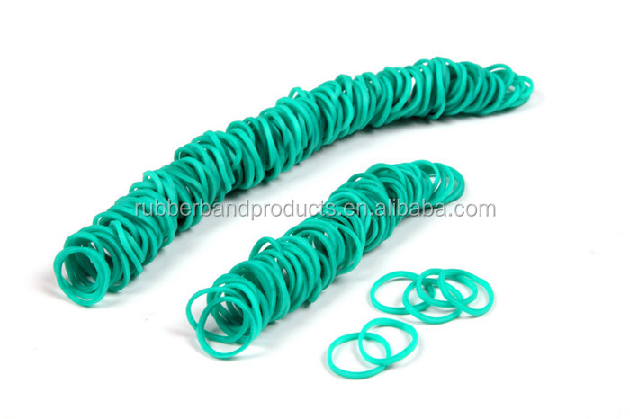 25mm Natural Green Color Elastic Rubber Band Lowest Price