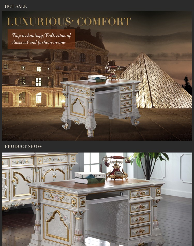 luxury home office desks. Classic French Antique Furniture -luxury Home Office Furniture-Hand-made Royalty Writing Luxury Desks D