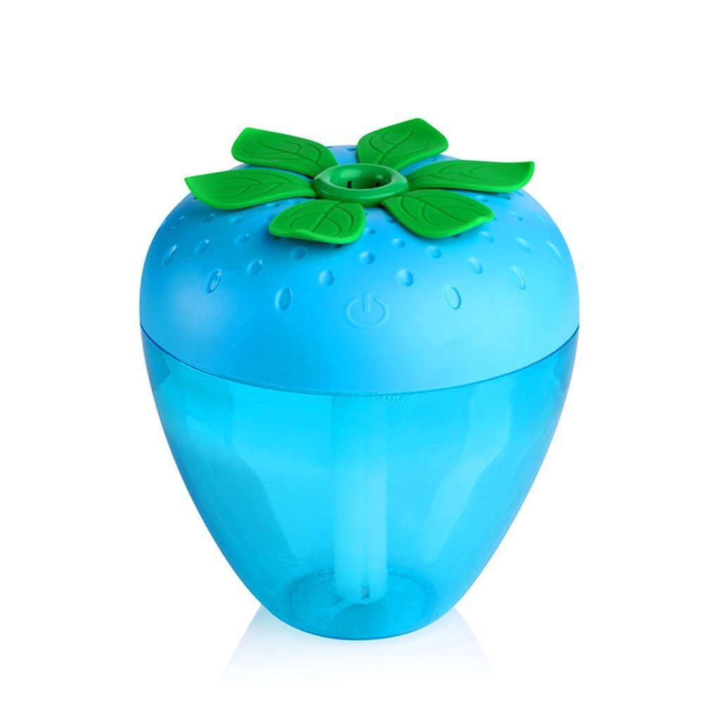 Humidifier Steam Mist Diffuser Odeer Strawberry Home Aroma LED Humidifier Air Diffuser Purifier Atomizer 909095mm (Color : Blue)