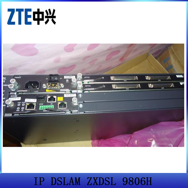 Best price ZTE 48/96 port ADSL vdsl DSLAM fiber optic equipment ZXDSL 9806H