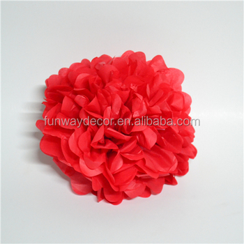 Wedding christmas decoration red tissue paper pom poms hanging wedding christmas decoration red tissue paper pom poms hanging flower ball mightylinksfo