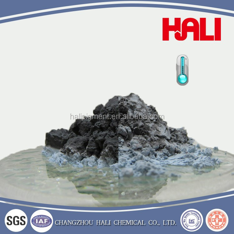 High quality and cheap thermochromic pigment, hot sensitive powder, item:HLR-7008,black to blue