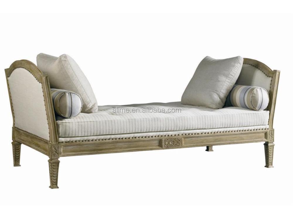 alime custom hotel houten antiek bed eind bankje mercià le voor