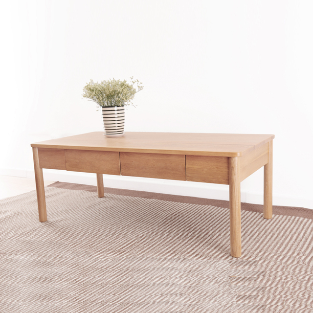 Buy Dodge Scandinavian Furniture Simple Japanese Style Mediterranean Style Furniture  Oak Wood Coffee Table With Drawers Small Apartm In Cheap Price On ...