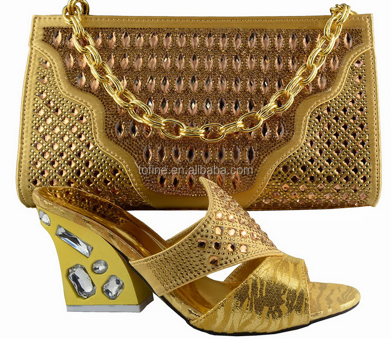Order Free Sample Shoes African Shoes And Bag Set For Woman Dress