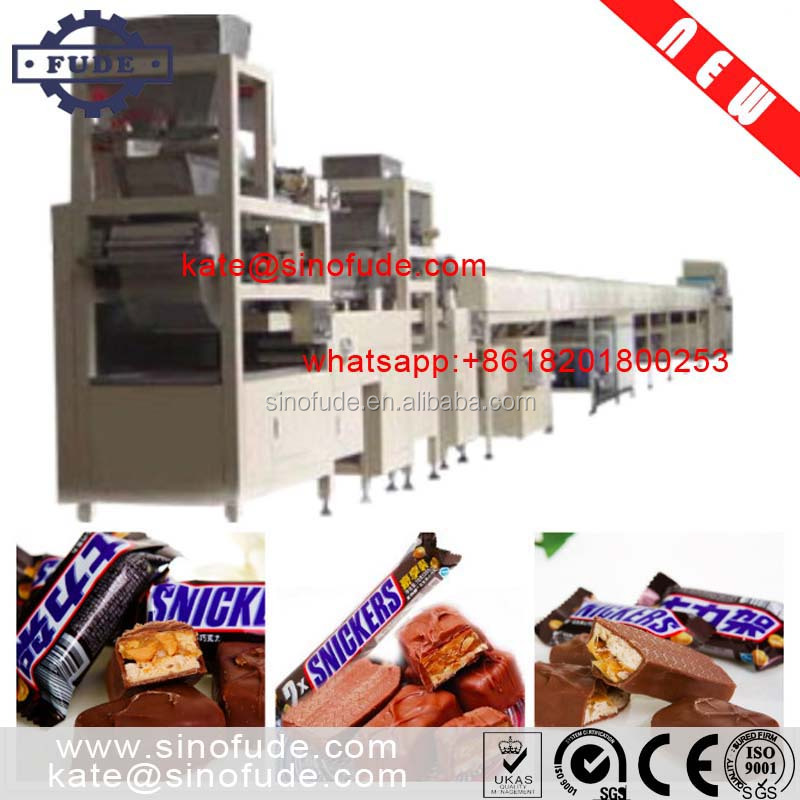Shanghai high quality automatic snickers cereal candy bar machine / power bar production <strong>line</strong>
