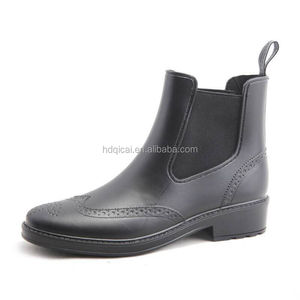 Customized Cheap Women Elastic Ankle Rain Wellies Boots, Men PVC Rain Boots
