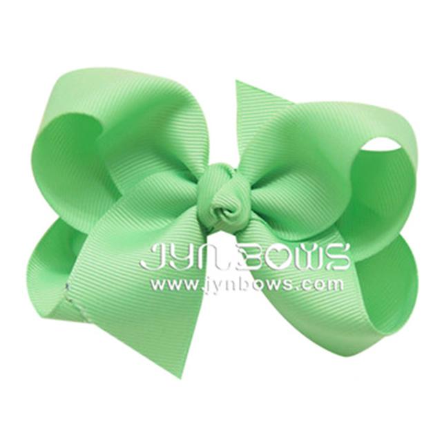Grosgrain Ribbon 3 Initials Hair Bow Hair Pins For Baby Girl