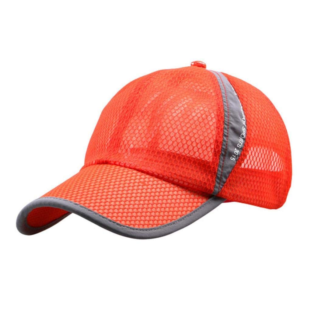 1ca7ec39d73b5 Get Quotations · Kstare Men and Women Snapback Baseball Cap Outdoor Sports  Mesh Hat Beach Caps