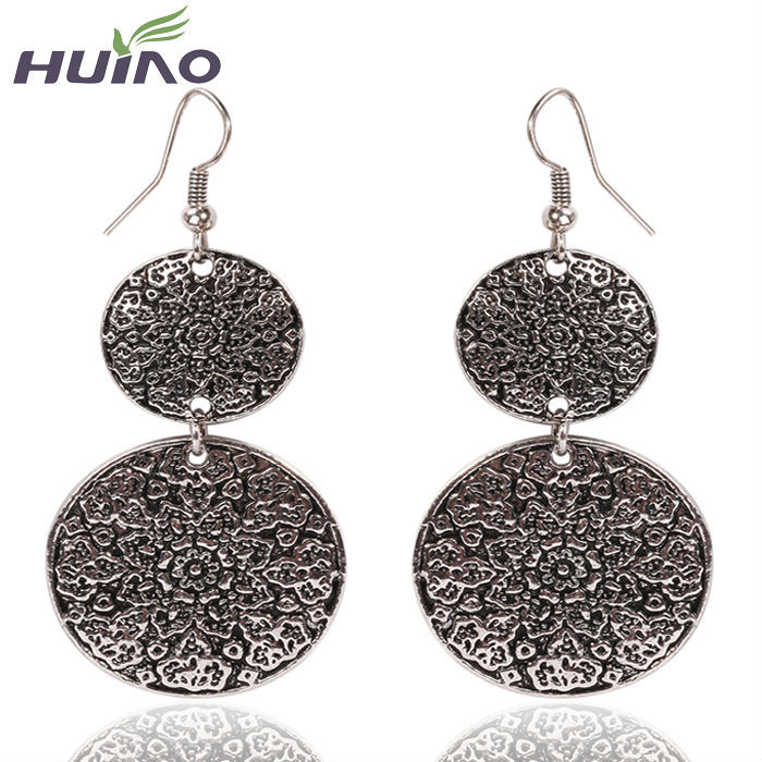Top Quality Best Sell New Fashion Women/Girl's Drop Earring Accessories New Arrival Brand Silver Round Shape Earring