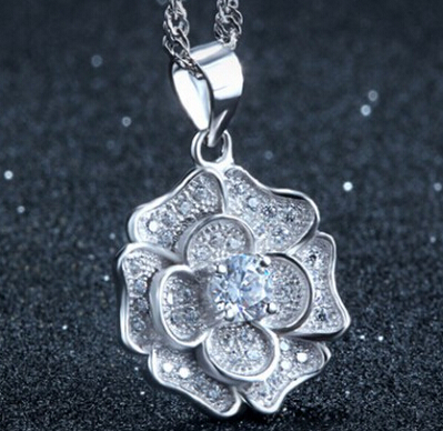 MLA272 china crystal beads silver yellow gold pendant