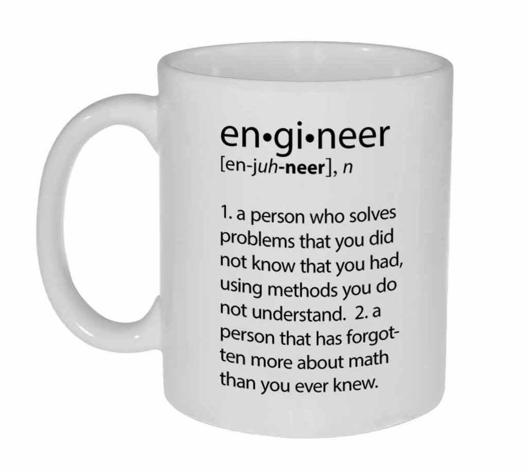 Popular Design Custom Office Cup - Engineer Definition Funny - 11 Ounce Ceramic White Coffee/Tea Cup