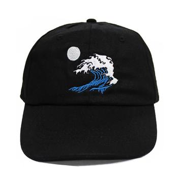 e74f76685ff Simple Black Urban Custom Embroidered Dad Cap strapback Dad Hat
