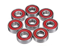Red Sealed Deep Groove Skateboard Ball Bearing 608 2RS 8x22x7mm