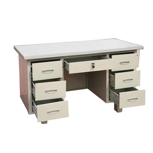 Cheap Metal Office Desk With 6 Locking Drawer Metal Office Computer Table
