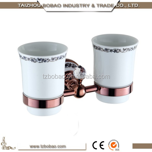 Good quality hotel rose gold plated brass luxury bathroom for Good quality bathroom accessories