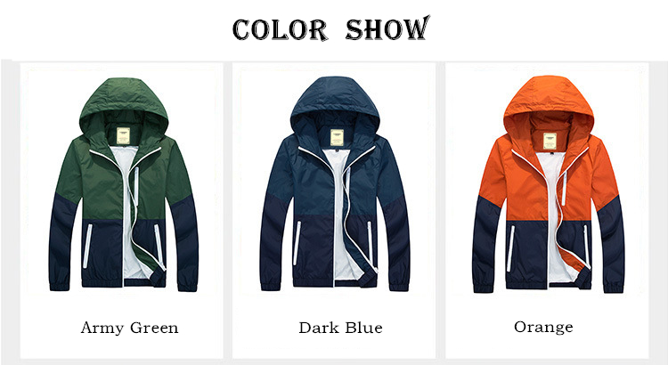 Hot Sell Jacket Men Woman Keep Warm 2018 Spring Autumn Fashion Jacket Hooded Casual Jackets Male Coat Thin Coat Outwear Couple