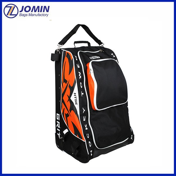 2018 Canton Fair High Quality Floorball Bag Large 30inch Hockey Bags With Wheels Backpack For Equipment