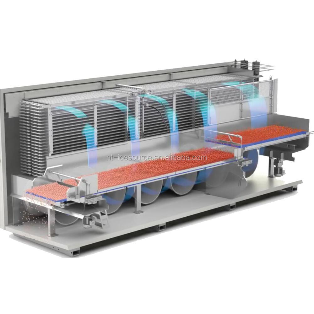 1500kg H Iqf Fluidized Tunnel Freezer Buy Iqf Freezer