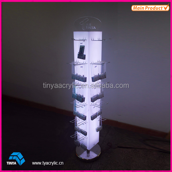 Acrylic Display Stand For Mobile Phone Accessories Cables,Usb Plug ...