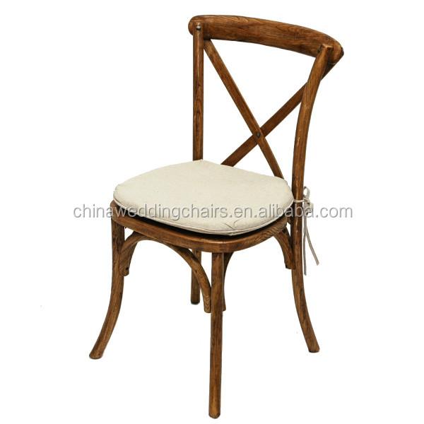 fbrica al por mayor rstico de roble sillas de espalda cruzada