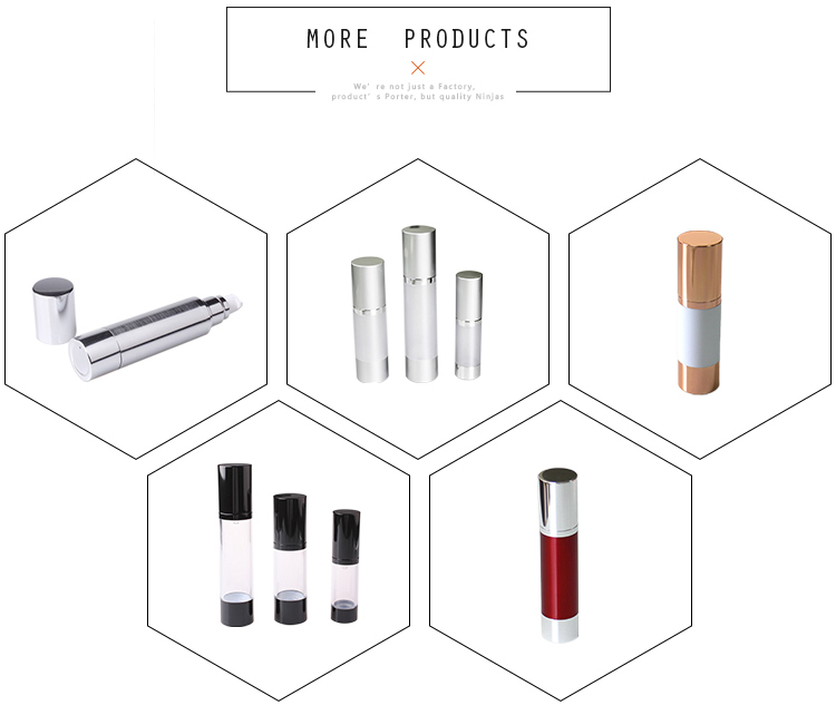 Free sample Plastic cosmetic pump bottle airless cosmetic pump bottle