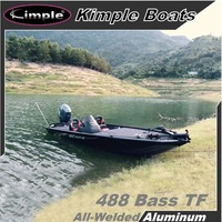 KIMPLE Aluminum Bass Fishing Boat