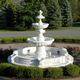 Garden Decorative White Marble Two Tier classical water fountain